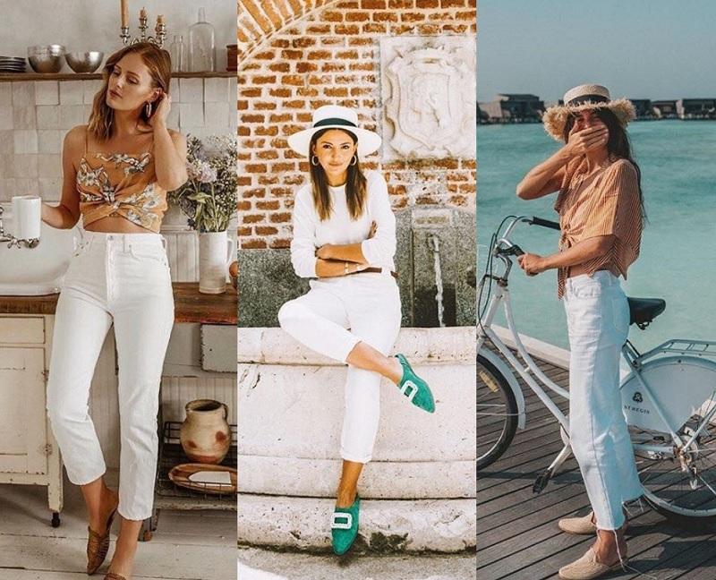 10 ідей як носити білі джинси