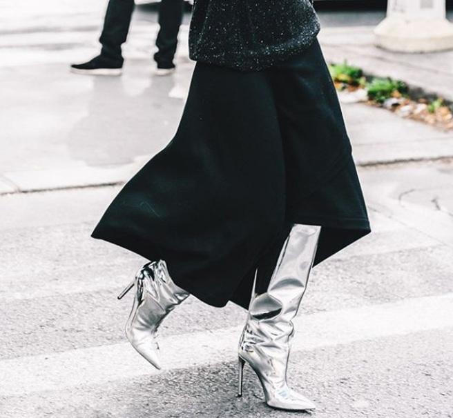 Металеві черевики - модне взуття осінь - зима 2017/2018