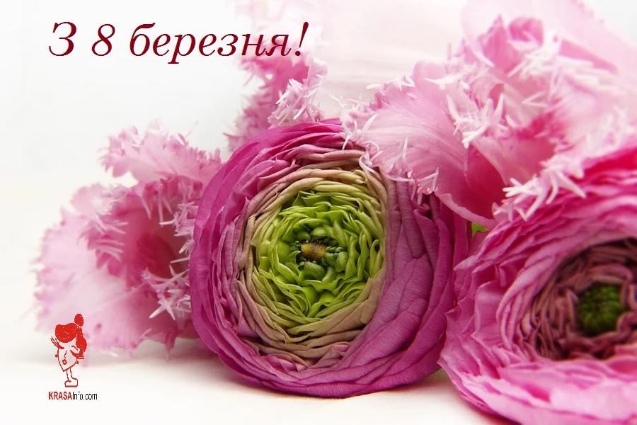 Листівки-привітання з 8 березня
