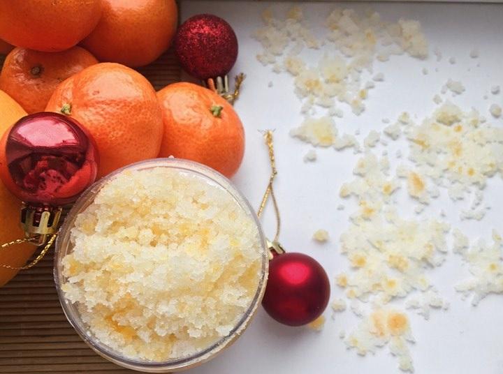 Апельсиновий цукровий скраб для тіла