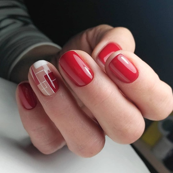 Завжди модний червоний. Ідеї манікюру на короткі нігті
