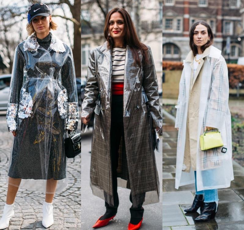 Найпрактичніший тренд сезону - пластиковий одяг