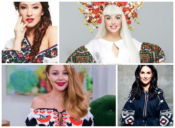 Українські зірки у вишиванках